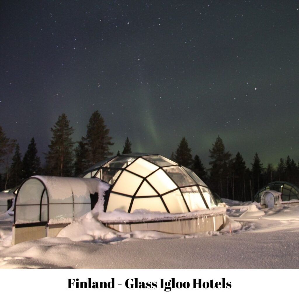 glass igloo hotel in Lapland